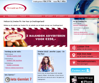 Website Smelne FM
